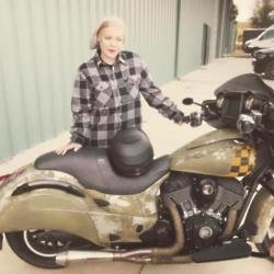 Pink with her motorcycle (c) Instagram