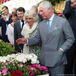 Prince Charles and Camilla, Duchess of Cornwall in Nice (c) Clarence House/Twitter
