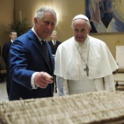 Prince Charles with Pope Francis