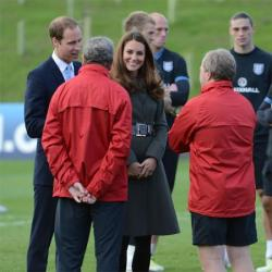Prince William and Duchess Catherine at the St George's Park complex