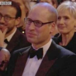 Prince William at the BAFTAs (c) BBC