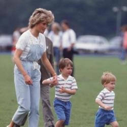 The late Princess Diana with sons Prince William and Prince Harry