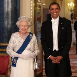 Queen Elizabeth and Barack Obama