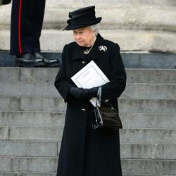 Queen Elizabeth at Margaret Thatcher's funeral