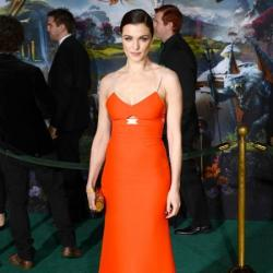 Rachel Weisz wears orange Victoria Beckham