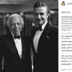Ralph Lauren and David Beckham (c) Instagram