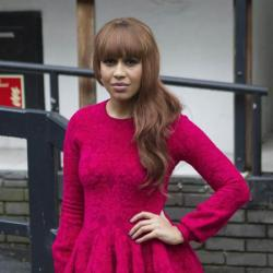 Rebecca Ferguson looks beautiful in bright pink