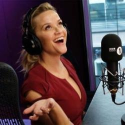 Reese Witherspoon at the Radio 1 studios (c) BBC