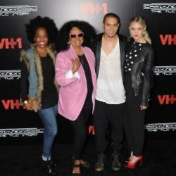 Diana, Rhonda and Evan Ross and Ashlee Simpson