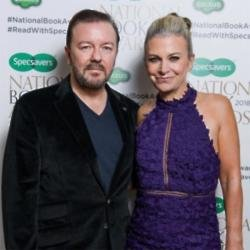 Ricky Gervais and Jane Fallon at the National Book Awards