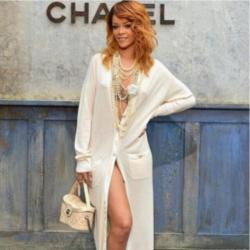 Rihanna at Chanel fashion show