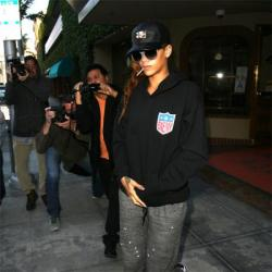 Rhianna is often wearing loose and baggy clothing