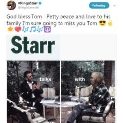 Paul McCartney and Ringo Starr lead tributes to Tom Petty
