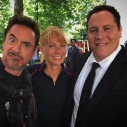 Robert Downey Jr, Gwyneth Paltrow and Jon Favreau (c) Instagram