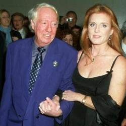 Robert Stigwood with Sarah Ferguson