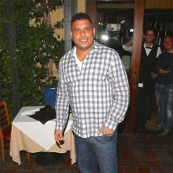 Ronaldo outside the Ago Restaurant in West Hollywood