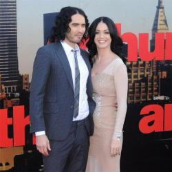 Russell Brand and Katy Perry during their marriage