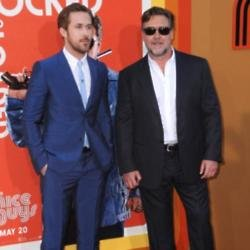 Ryan Gosling with Russell Crowe