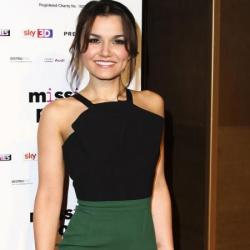 Samantha Barks looks beautiful in Roland Mouret