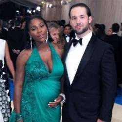Serena William and Alexis Ohanian