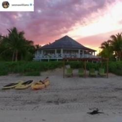Serena Williams' honeymoon destination (c) Instagram