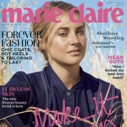 Shailene Woodley on the cover of Marie Claire magazine