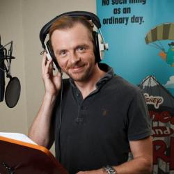 Simon Pegg recording Phineas and Ferb