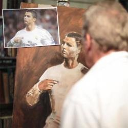 Sky Sports 5 commissions paintings of footballers
