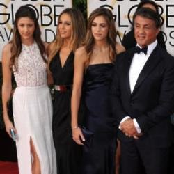Sylvester Stallone and his daughters Sophia, Sistine and Scarlett