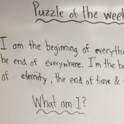 Teacher's riddle (c) Twitter