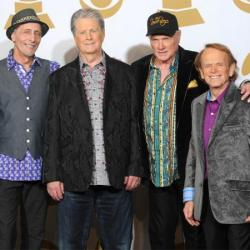 The Beach Boys with Brian Wilson (second left)