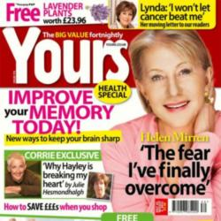 The cover of this week's Yours magazine, on sale now
