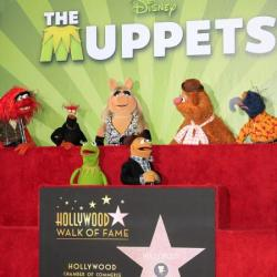 The Muppets unveiling their Hollywood Star