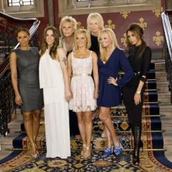 The Spice Girls with Jennifer Saunders and Judy Craymer