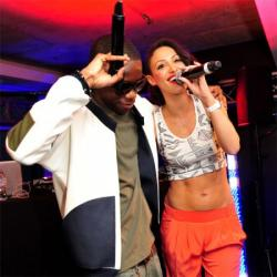 Tinchy Stryder and Amelle Berraba at the Goji Tinchy Stryder On Cloud 9 headphone launch