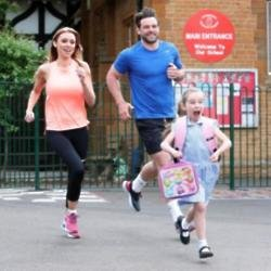 Una and Ben Foden with their daughter Aoife
