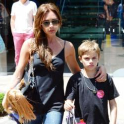 Victoria Beckham and Romeo