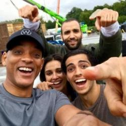 Will Smith, Mena Massoud, Naomi Scott, Marwan Kanzari (c) Facebook