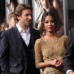 Zoe Saldana and Bradley Cooper at the premiere