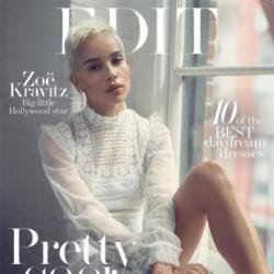 Zoe Kravitz on the cover of The Edit