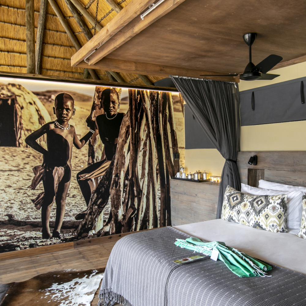 The Serra Cafema camp in Namibia benefits local Himba communities (Wilderness/PA)
