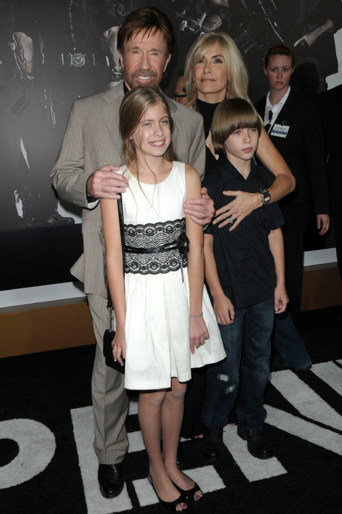 Chuck Norris and family (Credit: Famous)