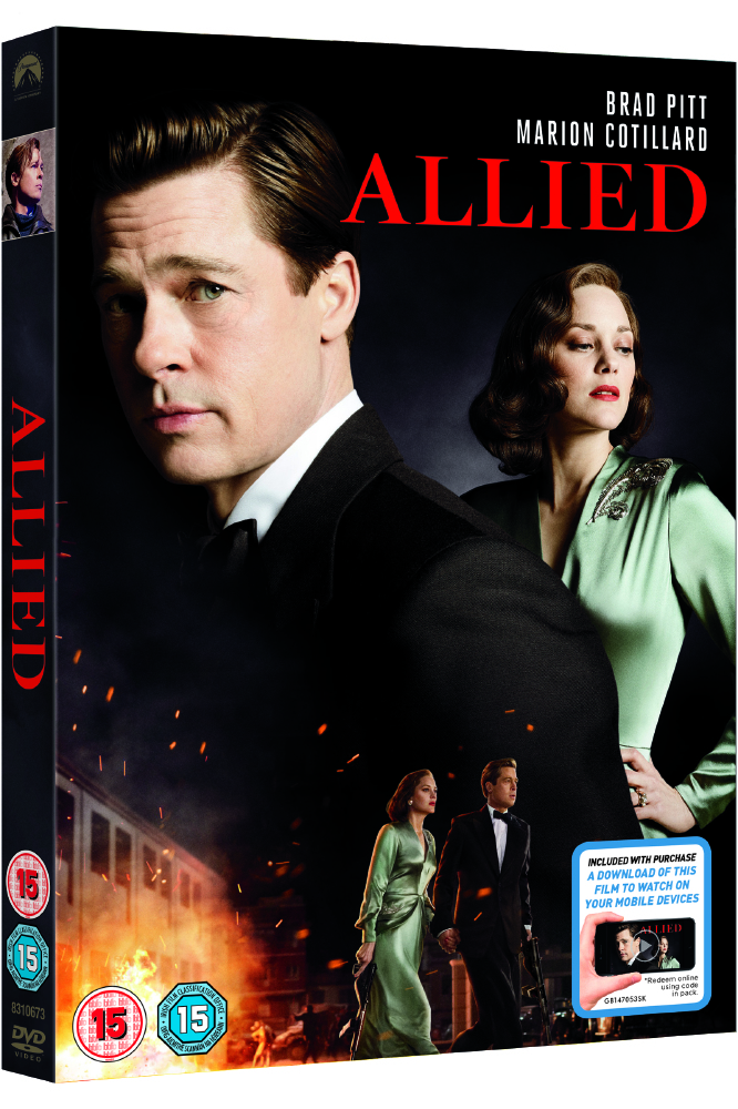 Allied, on DVD and Blu-ray from April 3