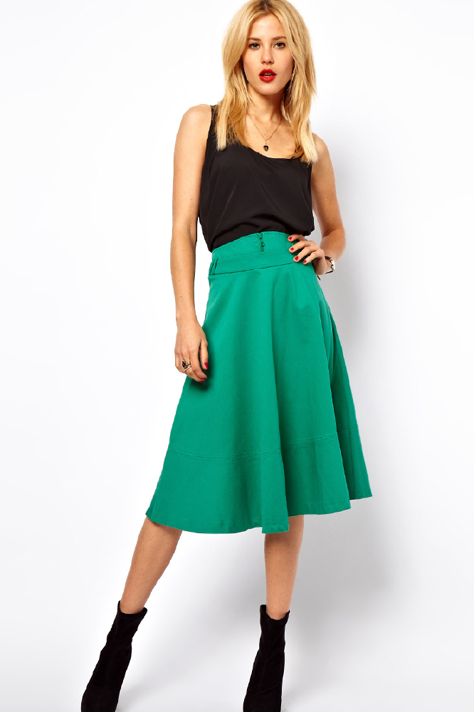 midi skirts shop the trend
