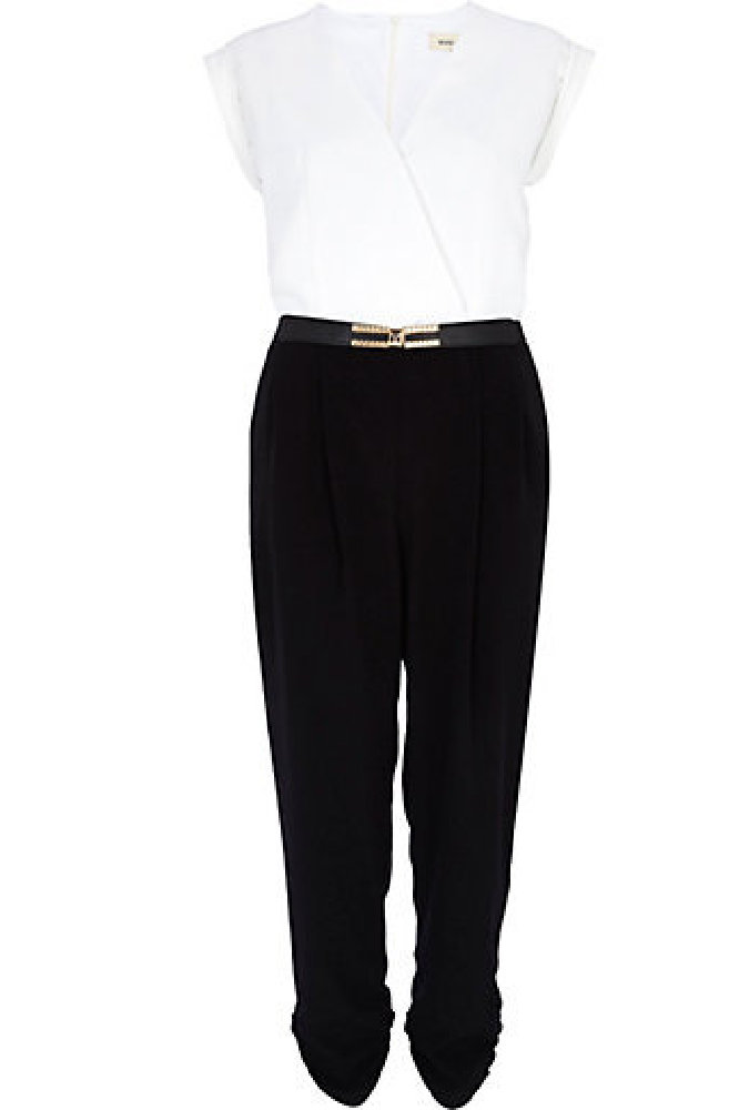 Island Black and White Colour Block Smart Jumpsuit – We Love