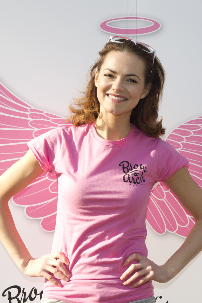 Kara Tointon supported the Brow Arch March yesterday