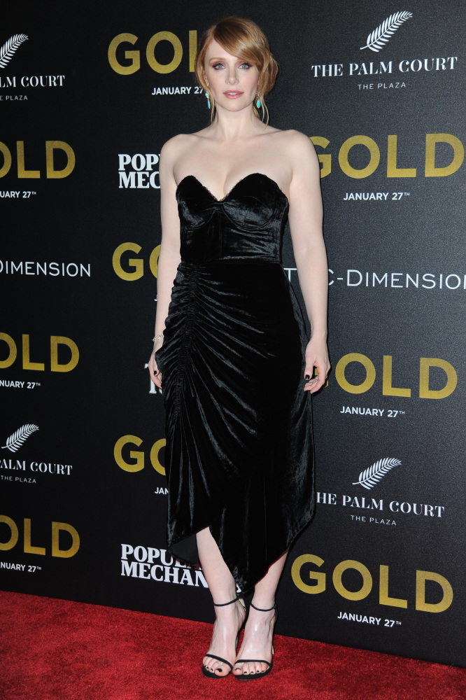 Bryce Dallas Howard at the New York premiere of Gold