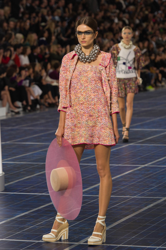 The Chanel SS13 collection featured pastel shades