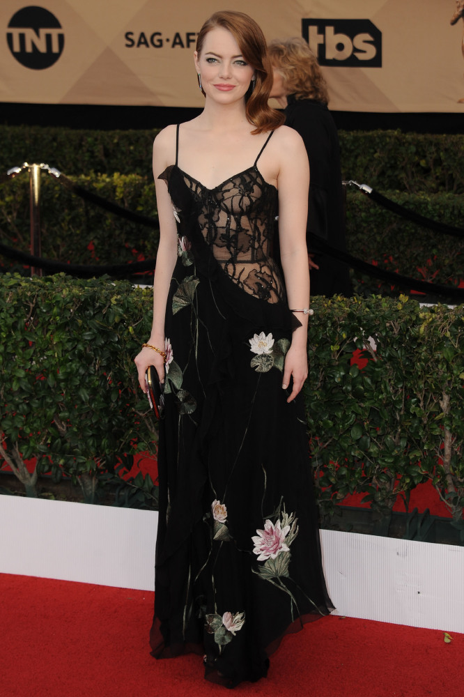 Emma Stone in Alexander McQueen at the SAG awards