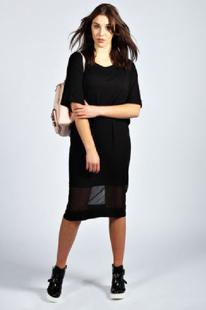 d518ca1395fc1 We love this mesh-panelled midi from Boohoo